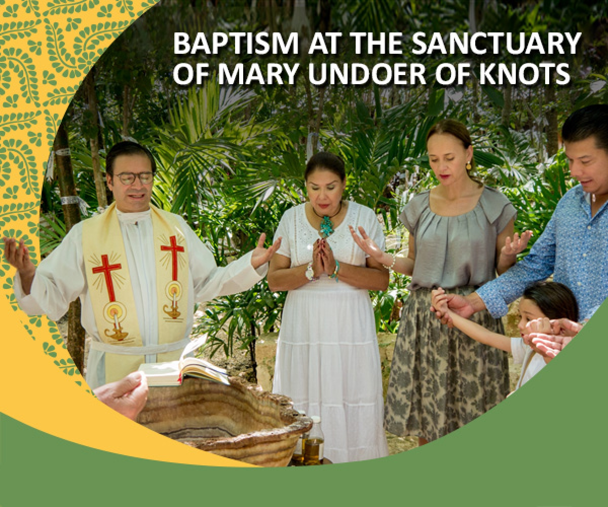 Baptism at the Sanctuary of Mary Undoer of Knots